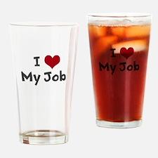 I Heart My Job Drinking Glass