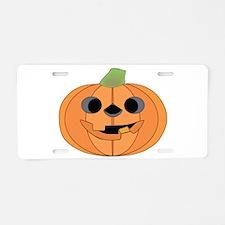 Halloween Carved Pumpkin Aluminum License Plate