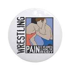 Wrestling PAIN Ornament (Round)