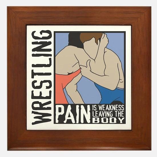 Wrestling Pain Framed Tile
