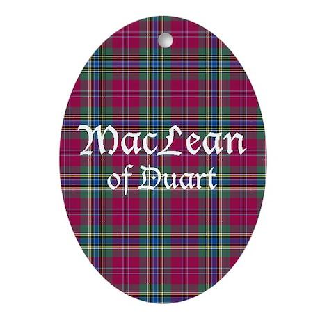 Tartan - MacLean of Duart Ornament (Oval)