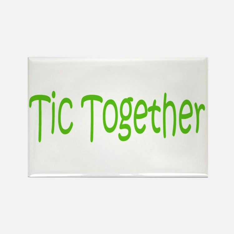 Tic Together Green Rectangle Magnet