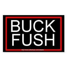Buck Fush Bumper Rectangle Decal