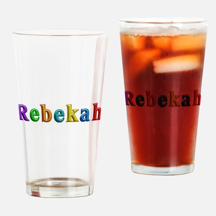 Rebekah Shiny Colors Drinking Glass