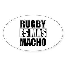Rugby Es Mas Macho Oval Decal