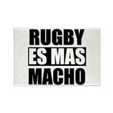 Rugby Es Mas Macho Rectangle Magnet