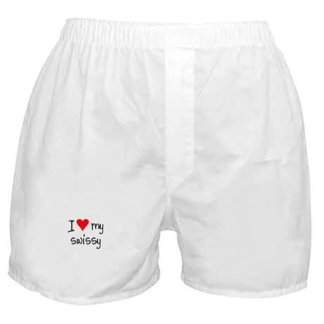 I LOVE MY Swissy Boxer Shorts