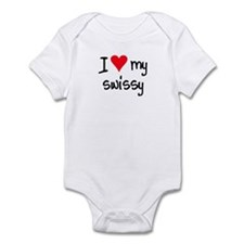 I LOVE MY Swissy Infant Bodysuit