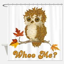 Whoo Me Autumn Owl Shower Curtain