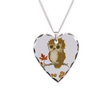 Whoo Me Autumn Owl Necklace Heart Charm