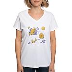 Honey Bee Dance Women's V-Neck T-Shirt