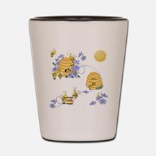 Honey Bee Dance Shot Glass