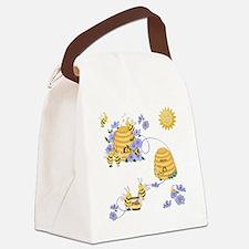 Honey Bee Dance Canvas Lunch Bag