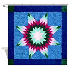 Star Quilt Shower Curtain