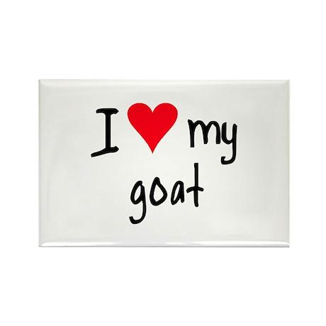 I LOVE MY Goat Rectangle Magnet