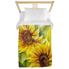 Sunflowers Oil Painting Twin Duvet