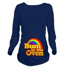 Cute! Bun in the Oven Long Sleeve Maternity T-Shir
