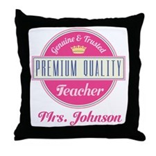 Personalized Vintage Teacher Throw Pillow