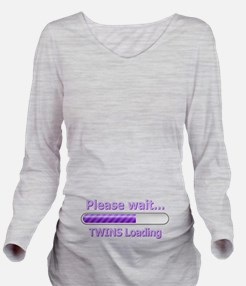 Baby TWINS Loading! Long Sleeve Maternity T-Shirt