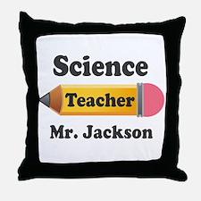 Personalized School Teacher Pencil Throw Pillow