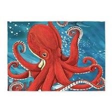 Octopus Painting 5'x7'Area Rug