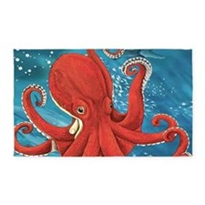 Octopus Painting 3'x5' Area Rug