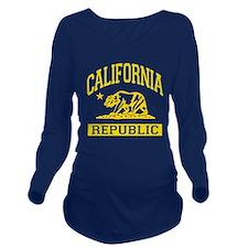 California Republic Long Sleeve Maternity T-Shirt