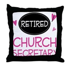 Retired Church Secretary Throw Pillow