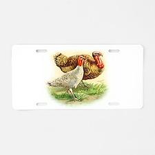 thanksgiving turkey_couple large Aluminum License
