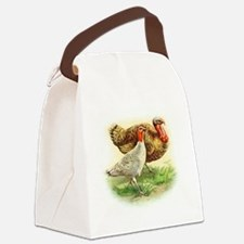 thanksgiving turkey_couple large Canvas Lunch Bag