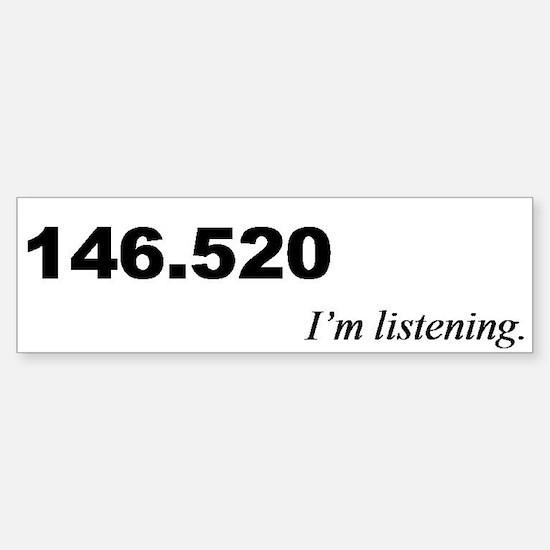 ham radio calling frequency bumper sticker