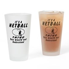 Netball Thing Designs Drinking Glass