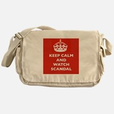 Keep Calm and Watch Scandal Messenger Bag