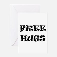 Free Hugs Greeting Cards