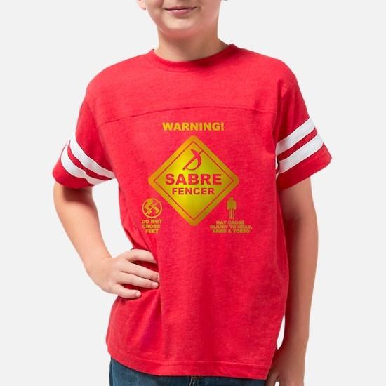 Warning! Sabre Fencer Youth Football Shirt
