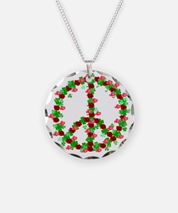 Shamrocks and Roses Peace Si Necklace