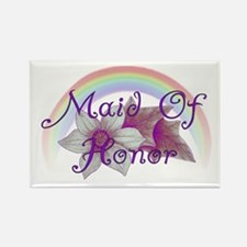 Rainbow Marriage Maid Of Honor Rectangle Magnet