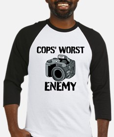 Camera: Cops Worst Enemy Baseball Jersey