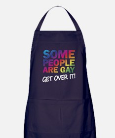 Some people are gay - get over it! Apron (dark)