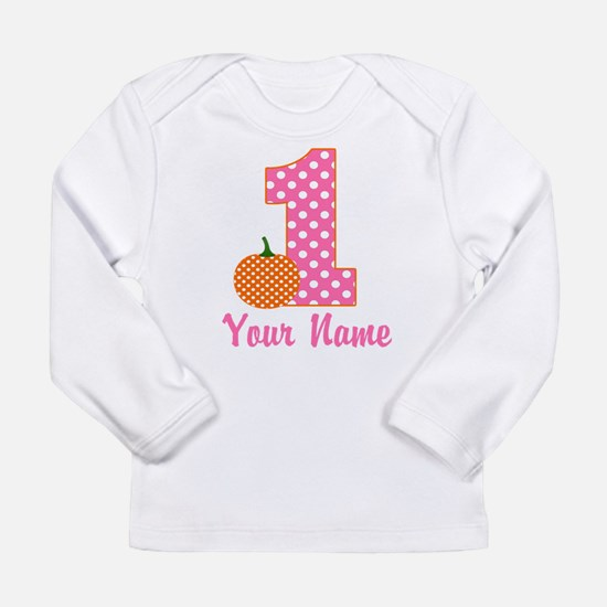 1st Birthday Pumpkin Long Sleeve T-Shirt