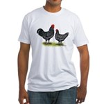 Java Rooster and Hen Fitted T-Shirt