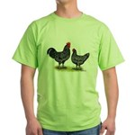 Java Rooster and Hen Green T-Shirt