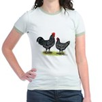 Java Rooster and Hen Jr. Ringer T-Shirt
