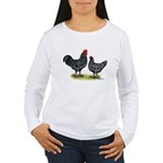 Java Rooster and Hen Women's Long Sleeve T-Shirt