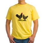 Java Rooster and Hen Yellow T-Shirt