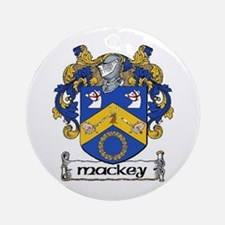 Mackey Coat of Arms Ornament (Round)
