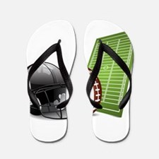 Football - Sports - Athlete Flip Flops
