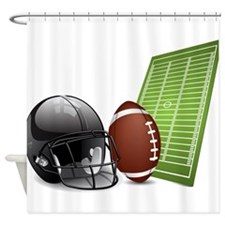 Football - Sports - Athlete Shower Curtain