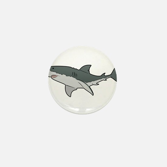 Great White Shark Mini Button