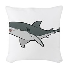 Great White Shark Woven Throw Pillow